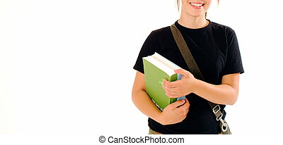 Student - A student holding carrying a couple of books