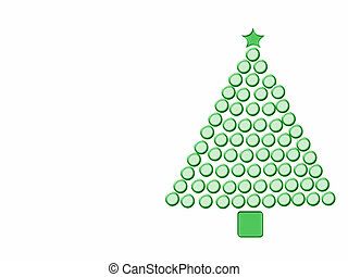 Green Christmas Tree - Christmas tree made of green frosted...