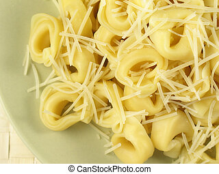 Tortellini with Parm - Tortellini pasta filled with ricotta,...