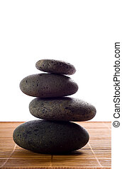 hot Stones - stack of hot stones for lastone massage