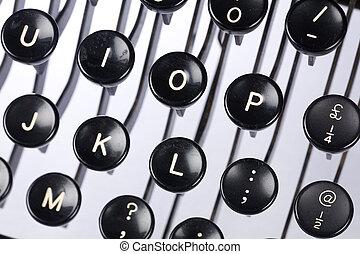 Máquina escrever, teclado