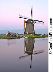 Mirror Windmill - One of the more than 1000 windmills still...