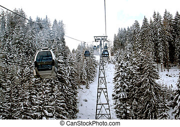 Alpine Cable Cars - Some Cable Cars on the Schmittenhohe...