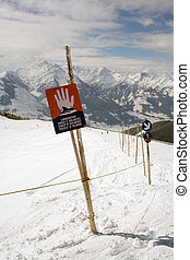 Avalanche Danger Sign