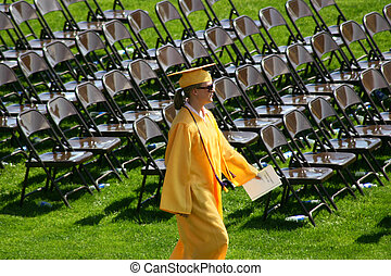 Valedictorian - The valedictorian for her graduating class...