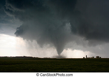 Tornado - An F2 Long Track Tornado in South Dakota