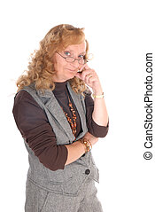 Middle aged businesswoman - Attractive middle aged blond...