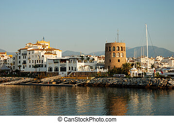 Puerto Banus, Marbella - View of Puerto Banus harbour, in...