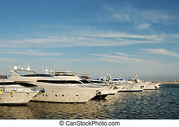 Luxury yachts in Marbella - Luxury yachts in the harbor of...