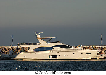 Luxury yachts in the harbor of Marbella, Spain - Luxury...