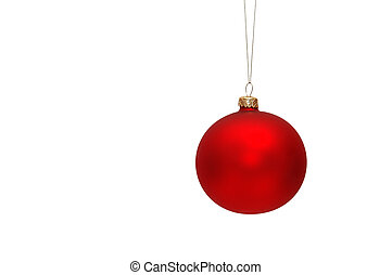 Red Christmas tree bauble - Hanging Christmas tree bauble...