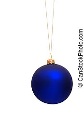 Blue Christmas tree bauble - Hanging Christmas tree bauble...