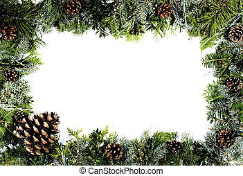 christmas decoration - christmas green frame, christmas...
