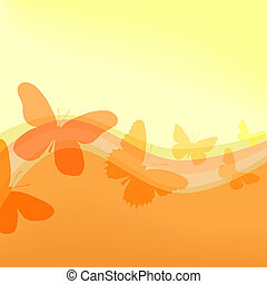 Flutterby - Background illustration of butterfly shapes