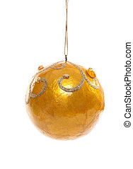 Yellow Christmas Bauble - Yellow resin Christmas bauble...