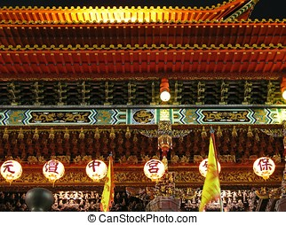 Temple Detail at Night