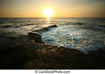 Indian ocean - Coastline Indian ocean on sunset