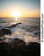 Indian ocean - Coastline Indian ocean on sunset