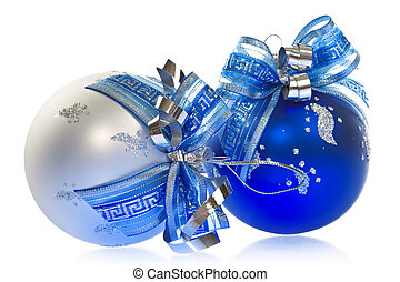 Christmas decoration-smart orante glass balls with blue...