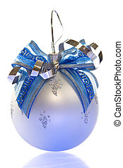 Christmas decoration-smart orante glass ball with blue...