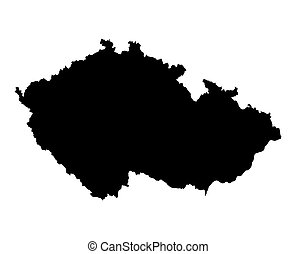 map of Czech Republic - Detailed isolated map of Czech...