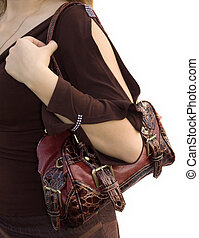 Shopping - Close-up photo of girl with handbag purse...