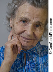 elderly woman - portrait of the elderly woman