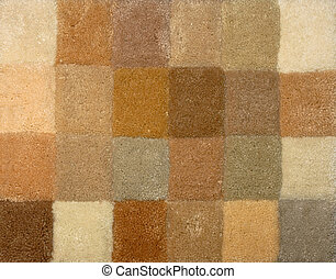 Carpet colors 01 - Color palette picker of carpet textile...