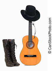 Country and Western guitar hat - Country Western guitar,...