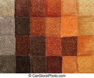 Carpet colors 05 - Color palette picker of carpet textile...