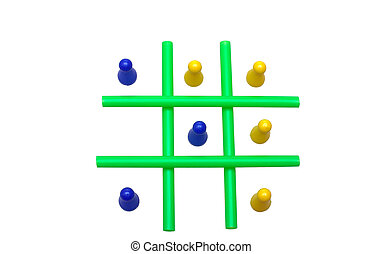Tic Tac Toe - Photo of a Tic Tac Toe game in progress. The...