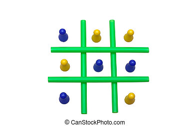 Tic Tac Toe - Photo of a Tic Tac Toe game in progress The...