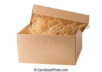 opened box with straw
