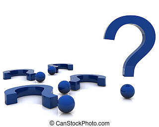 3d question marks - composition of a 3d question marks