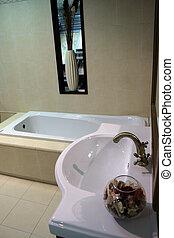 Luxury bathroom detail in