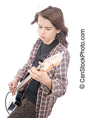 Guitarist - A photo of teenager guitar player taken over...