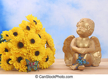 Flowers and Angel