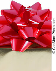 Christmas Present - Christmas present wrapped with a large...