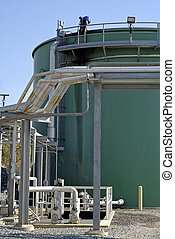 Waste Water Treatment Plant - A modern industrial waste and...