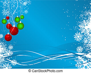 Christmas background - Decorative Christmas background with...