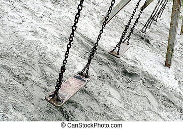Swings - A set of old weathered swings