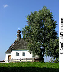 Shingle Roff Chapel - Bavarian chapel with a shingle roof