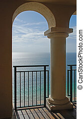 Ocean and Arches - A beautiful view of the ocean through the...