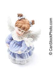 Angel Figure on White Background
