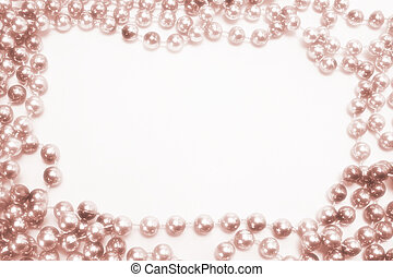 Beaded Necklace on White Background