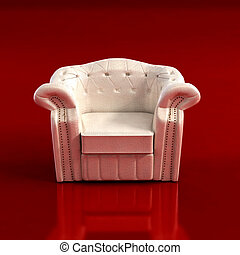 classic armchair 3D rendering - classic armchair 3D computer...