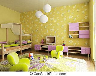 children\\\'s room interior