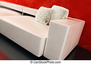 modern couch 3D rendering - modern couch with white pillows...