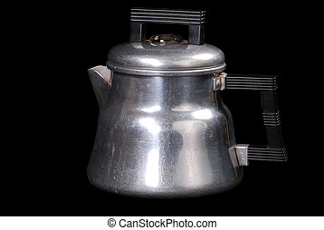 Vintage Percolator Mini Coffee Pot - Vintage aluminum mini...