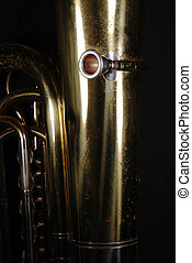 This Olde Tuba - Rear view of tuba detail, featuring...